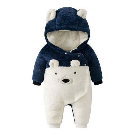 Winter Baby Boy Girl Clothes Bear Hooded Romper Cute Toddler Infant – BABY MOTHER