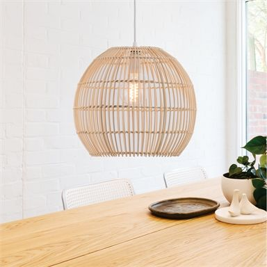 Verve Design Pallida Bamboo Pendant Lamp Bunnings Warehouse In 2020 Pendant Lamp Home Decor Design