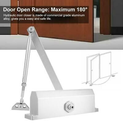 Automatic Door Closer Stainless Steel Automatic Closure 10 130kg For Home Office Automatic Door Closed Doors Stainless