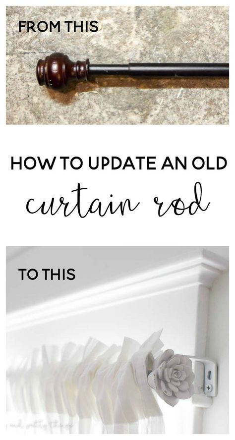 How To Update An Old Curtain Rod With Images Curtain Rods Diy