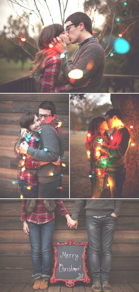 "I am obsessed with this newlywed Christmas photo shoot by Haley Sheffield. I'm talking ""Look-at-everyday-make-my-husband-admire-it-yes-I'm-still-drooling"" obsessed. Christmas Card Pictures, Christmas Photo Cards, Holiday Photos, Holiday Cards, Christmas Pictures For Couples, Family Pictures, Christmas Photo Shoot, Xmas Family Photo Ideas, Fun Family Christmas Photos"