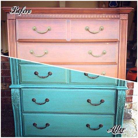 The talents of The Distressed Fleur De Lis by Mamye Biggs Fruge and products by General Finishes Corporation combine for a great upcycle in this dresser. http://bit.ly/1cN2yeP