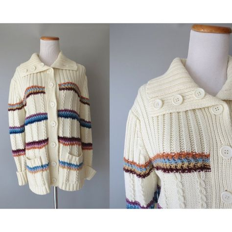 Vintage 80s Nautical Knit Jacket size Small Sweater Cardigan Blue White Preppy Sweater 1980s