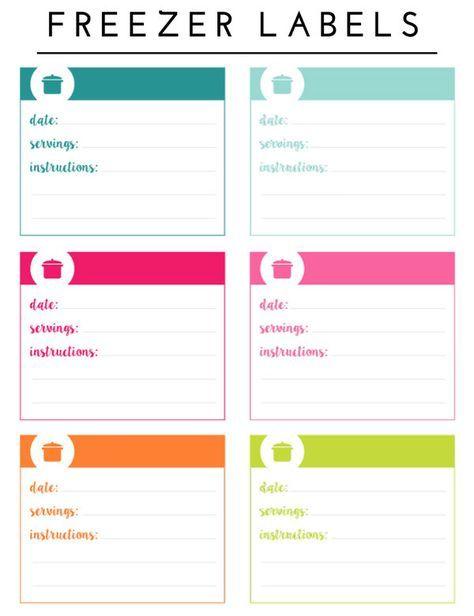 photo regarding Printable Freezer Labels identify Scheduling the Freezer (with Printable Freezer Stock