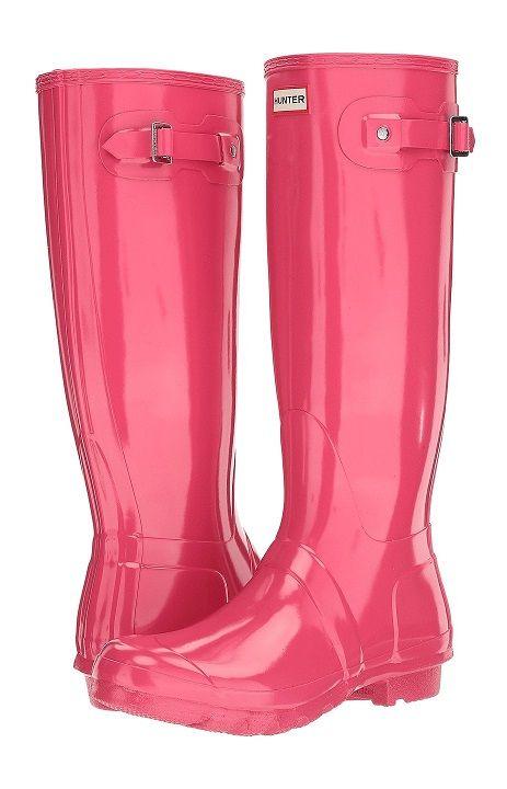 Pink Hunter Original Tall Gloss Rain