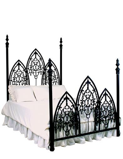 French Gothic Iron Bed King In 2020 Wrought Iron Beds Gothic