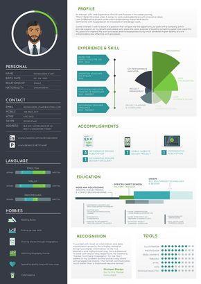 Creative Resume Maker Graphic Resume Infographic Resume Visual Resume