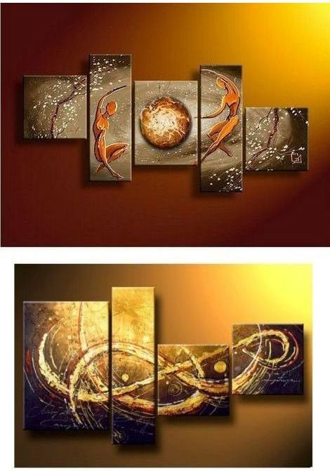 5PCS Tree of Life Canvas Print Large Painting Pictures Wall Art Hanging Decor