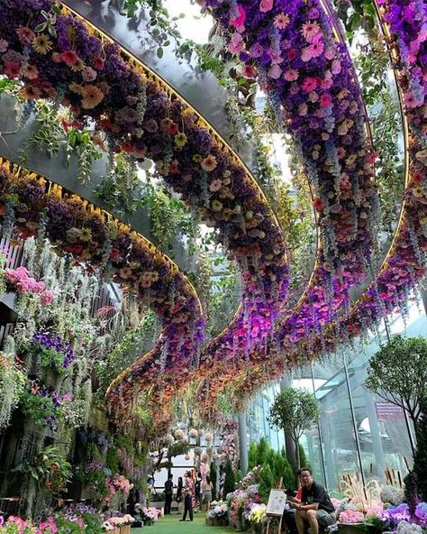 Gardens by the Bay, a nature park in Singapore. Beautiful Landscapes, Beautiful Gardens, The Places Youll Go, Places To Go, Singapore Travel, Singapore Photos, Singapore Malaysia, Green Architecture, Futuristic Architecture