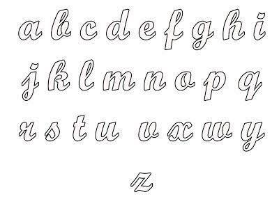 19 Plantillas de letras cursivas