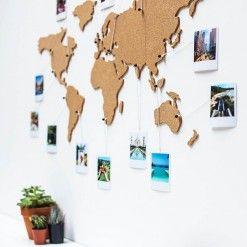 Carte Du Monde Decoupee En Liege En 2020 Carte Du Monde Deco