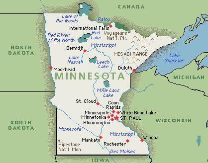 Minnesota Regions The Seven States Of Minnesota Moorhead