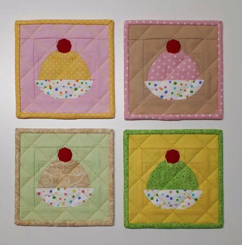 Rainbow Batik Cloth Coasters Coiled Style Absorbent Drink Coasters Set of 6 Fabric Coasters Handmade