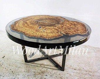 Woodartmilan By Woodartmilan On Etsy Epoxy Resin Table Round Dining Table Resin Table
