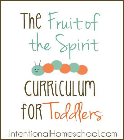 The Fruit of the Spirit Toddler Curriculum {free}