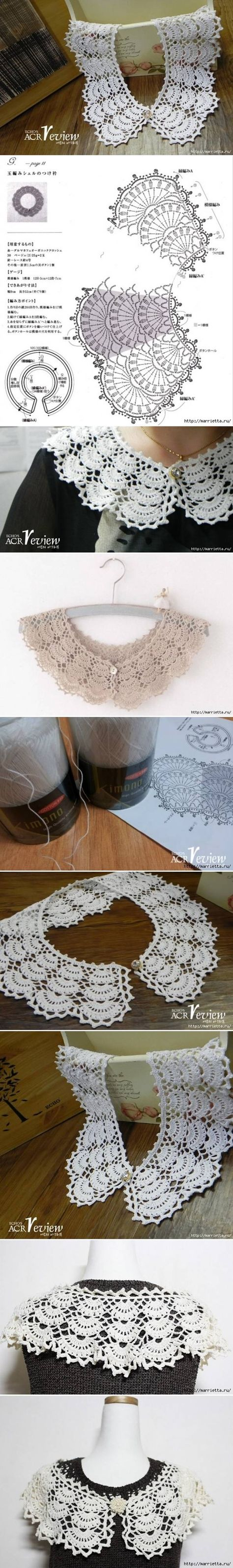 DIY Open Work Crochet Collar