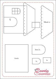 Applique Tutorial, Applique Patterns, Applique Quilts, Felt Board Patterns, Sewing Crafts, Sewing Projects, Quiet Book Templates, Diy Quiet Books, Felt House