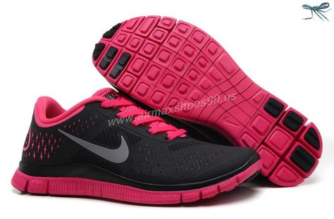 brand new 70a83 08c17 Nike Free 4.0 V2 Black Reflective Silver Vivid Pink 511527-060 Womens
