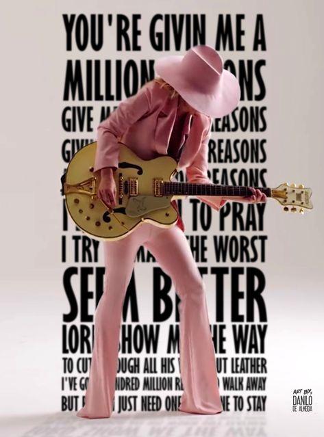Lady Gaga - Million Reasons #ladygaga #millionreasons #lyricsfanart #joanne #mothermonster #fanart