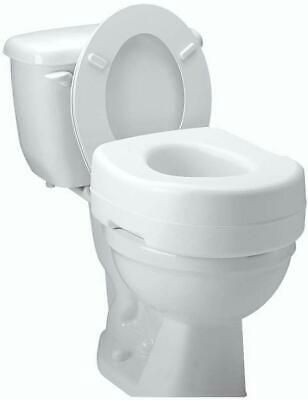 Details About Raised Toilet Seat Elevated Elongated Portable White