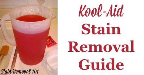 Tips For Removing Kool Aid Stains Stain Remover Carpet Kool Aid Stain Remover