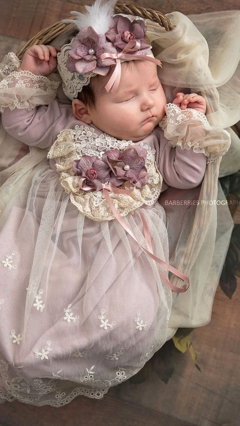 Does this sweet gown not steal your heart? This Anna Belle newborn gown by Frilly Frocks is perfect for baby's first portrait, Take Me Home or any special occasion.Fashion Wear For Toddlers Baby Girl Dresses, Flower Girl Dresses, Toddler Boutique, Foto Baby, Baby Gown, Christening Gowns, Cute Baby Clothes, Baby Girl Fashion, Baby Sewing