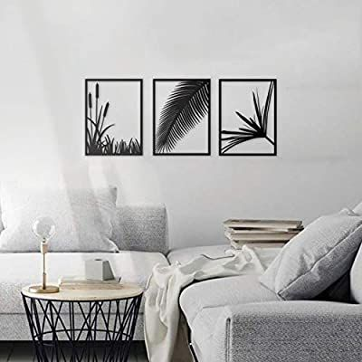 Amazon Com Ikonikahome Harvest Nature Metal Wall Art Size Each One Is 13 8 L X 18 5 H 3 Pieces Include Leaves W Metal Wall Art Wall Decor Metal Walls