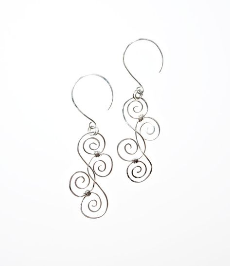 Image detail for -Silver Scrolls Earrings on Wood - Submit an Entry: Favorite Earring ...
