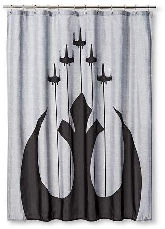 Star Wars Shower Curtain Target Bathroom Gray Grey And White