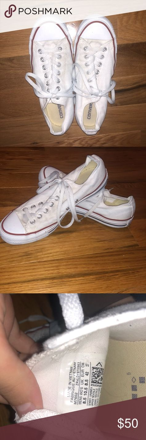 b0fb0df2e1df White Converse! Only been worn a couple times and still perfectly clean!  Size 10.5
