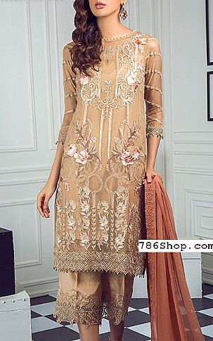 7470884288a Beige Chiffon Suit | Buy Ombre Fashion Dress in 2019 | Ombre ...