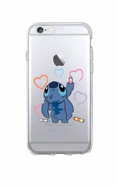 Lovely Stitch Soft TPU Transparent Fundas For Iphone in 2020