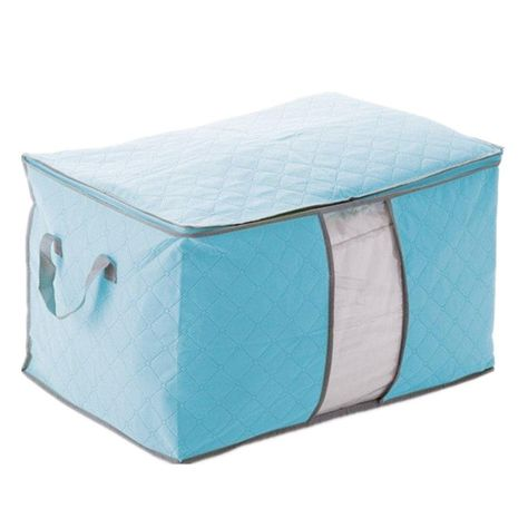 Gsfy Bleu Housse De Rangement Stockage Sac Boite Pliable Pour Couette Vetement 60x42x36cm Yesterday S Price Us 4 90 Quilt Storage Bag Storage Tote Storage