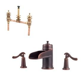 Pfister Ashfield 3 Hole Roman Tub Trim Only Rustic Bronze With 3 Hole Fixed Roman Tub Rough In Valve Rt6 5ypu 0x6 050r L Faucet Faucet Handles Tub Faucet
