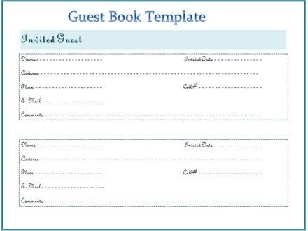 Image Result For Personalized Wedding Guest Book Template Book