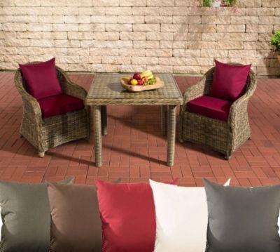 Poly-Rattan Garten Sitzgruppe SAN JUAN XL, Tischplatte milchglas - sitzgruppe im garten gartenmobel sets