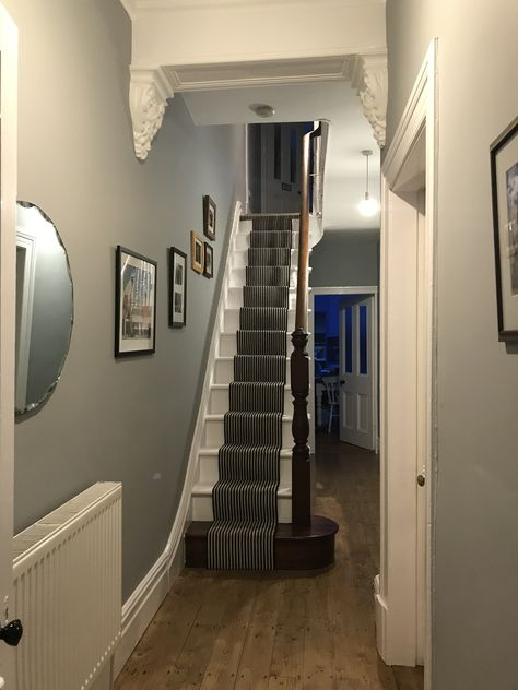 Hall refresh with Dulux Warm Pewter