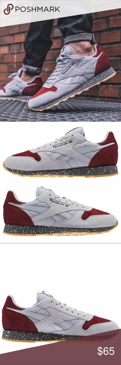 e4c2e6bfb38e NWT Men s Reebok Classics gray burgundy Size 10 New with tags Men s Reebok  Classics gray burgundy