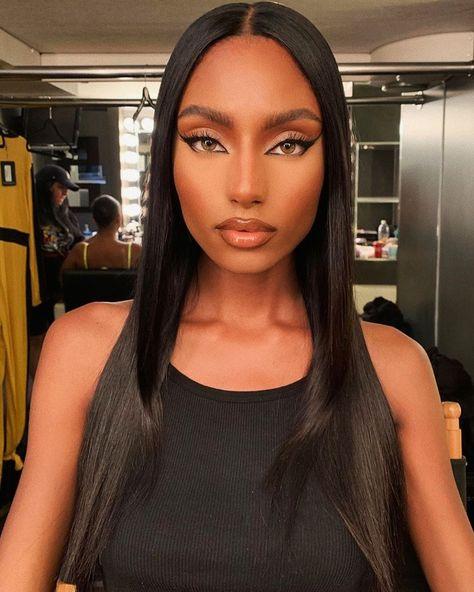 Natural Makeup For Black Women Beautiful Cute Happy Love Makeup Glam Makeup, Dupe Makeup, Black Girl Makeup, Flawless Makeup, Girls Makeup, Hair Makeup, Makeup Eyebrows, Gorgeous Makeup, Makeup Geek
