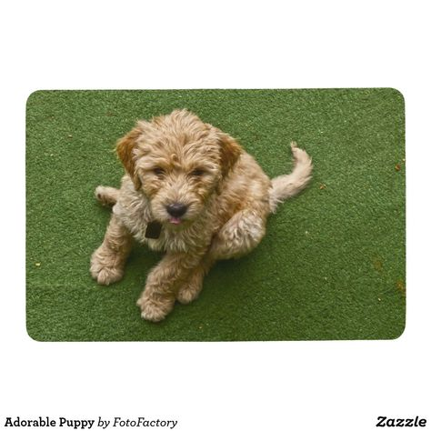 Adorable Puppy Floor Mat Zazzle