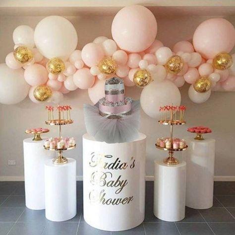 Pink and Gold DIAPER CAKE Mini tiara tutu baby girl baby shower gift newborn baby birthday gift idea