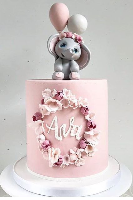 Pin By Cute Outfits On Sinfully Delicious Recipes In 2021 Baby Girl Birthday Cake Creative Birthday Cakes Beautiful Birthday Cakes