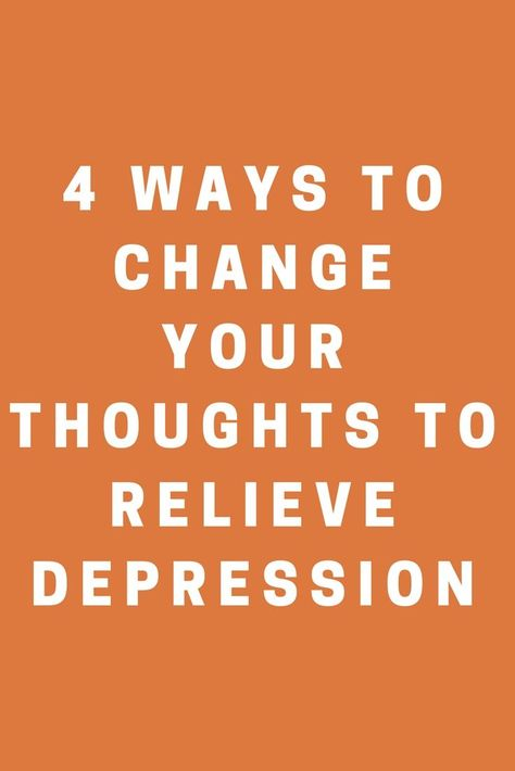 ways to get out of depression