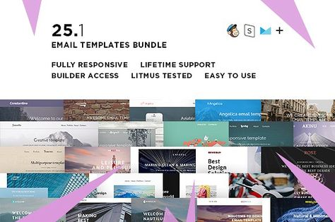 25 Email templates bundle + Builder