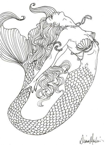 Tattoo Mermaid Mandala Coloring Pages 30 Ideas Tattoo Mermaid