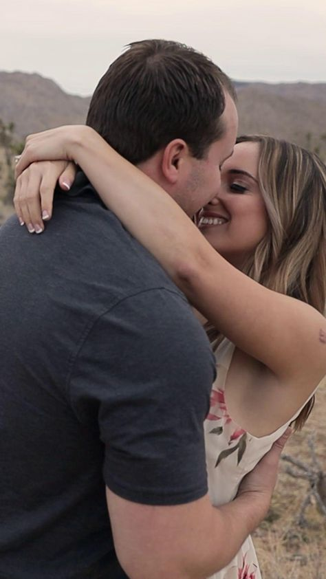 Beautiful engagement adventure session in Joshua Tree, California. The love between these two is so powerful! | Orange County Wedding and Engagement Videography | Venture Outbound Films