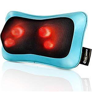 Shiatsu Neck Back Massager Pillow With Heat Deep Tissue Kneading