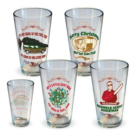 Celebrate Christmas with Clark Griswold and the family. This National Lampoon Christmas Vacation Pint Glass 4-Pack will be a welcome holiday tradition as you drink your eggnog.  The National Lampoon's Christmas Vacation Pint Glas