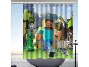 Minecraft Shower Curtain At