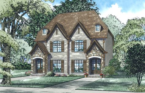 Nelson Design Group 1437 Mccarroll Street Duplex House Plans